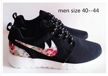 2015 New Design Flower roshelis trainers women& men running shoes ,hot sale London Mesh RUN sports sneakers(China (Mainland))