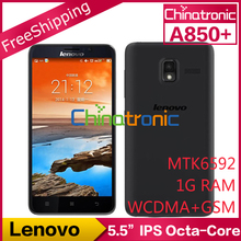 "Original Lenovo A850 Octa core A850+ Plus MTK6592 1.4G Multi-language Dual-SIM WCDMA 5.5""QHD IPS 1G RAM+4GB ROM Black / White(China (Mainland))"