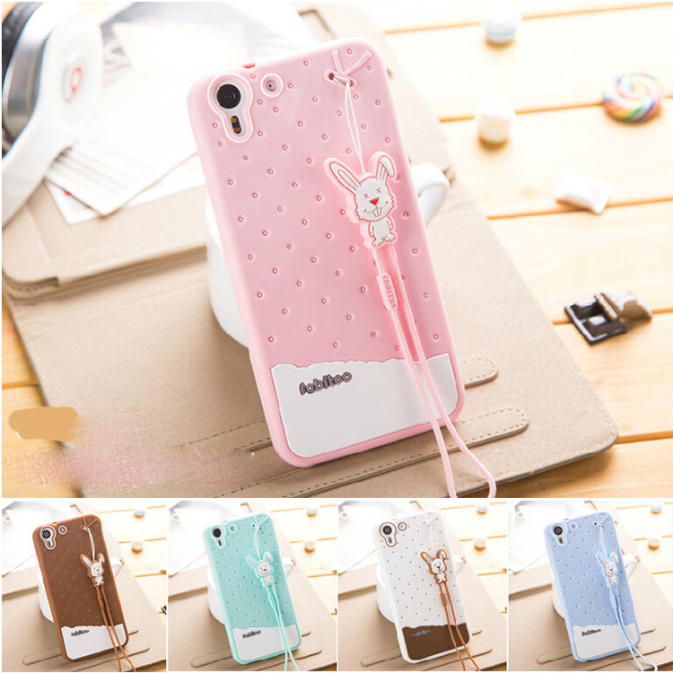 High Quality 3D Ice cream cartoon animal TPU Silicon Case Cover For HTC Desire Eye(China (Mainland))