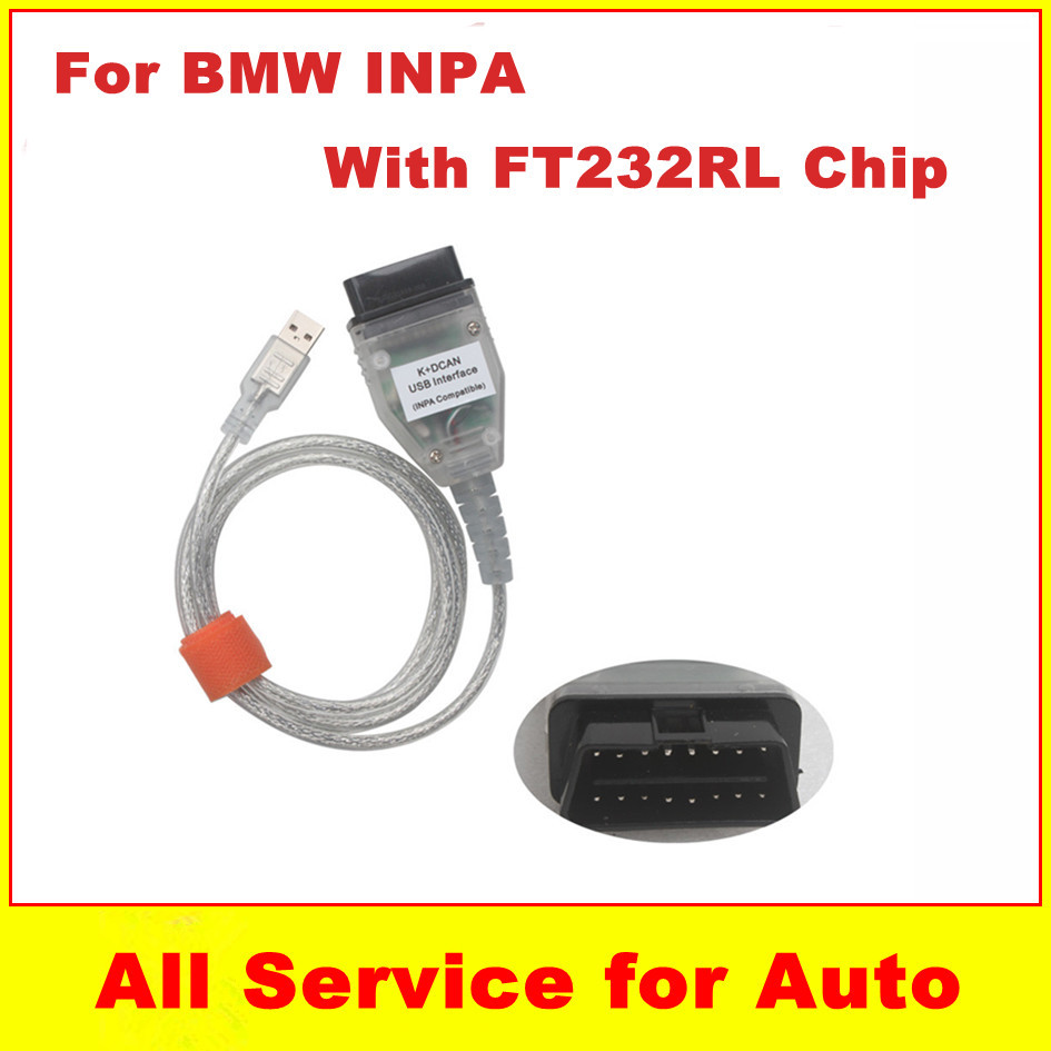 2015 Promotion BMW INPA K+CAN K CAN FT232RL Chip DCAN USB Interface Cable Car Diagnostic Scanner - welcome to freyr's store
