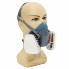 7PCS A Set Filter Cover Face Gas Dust Mask Suit Respirator Painting Spraying New Arrival High Quality Blue Silicone(China (Mainland))