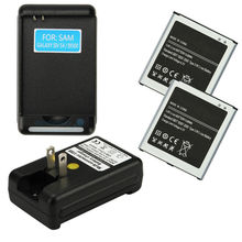 2X2600 MAH 3.8V Battery+Dock Charger For Samsung Galaxy S4 I9500 I9505 L720 M919(China (Mainland))