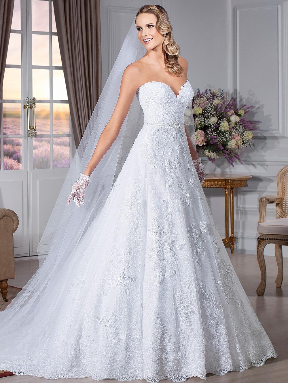 gratuite blanc une ligne dentelle bretelles robe de mariée en ...