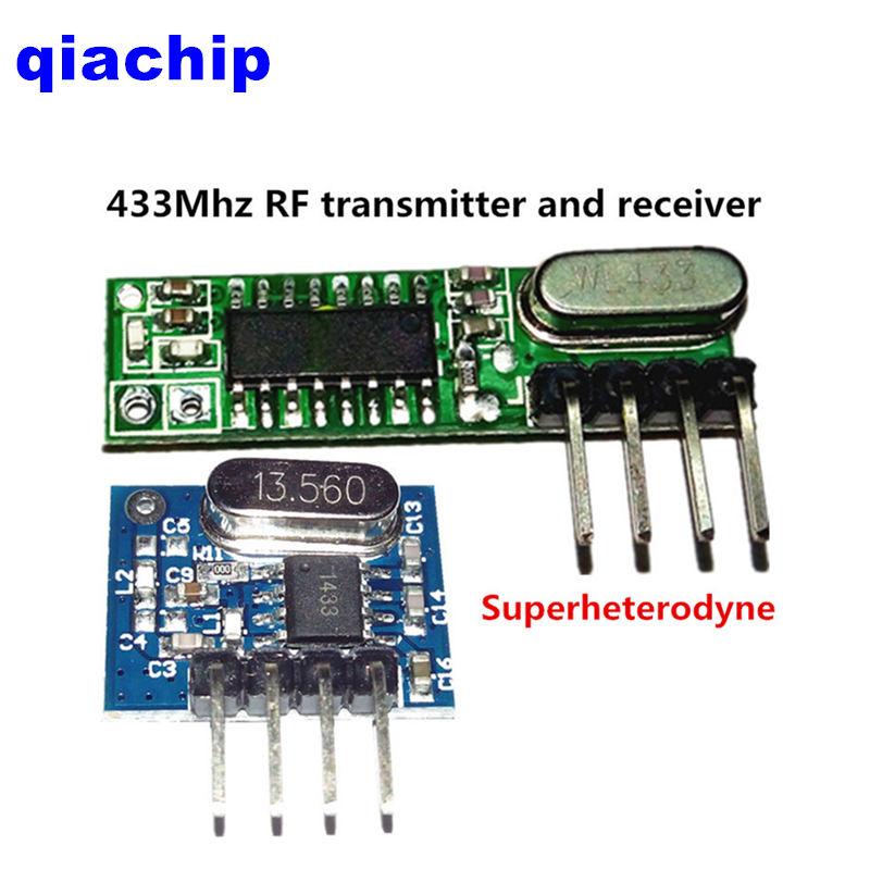 1set 2pcs superheterodyne 433Mhz RF transmitter and receiver Module kit small size low power for Arduino/ARM/MCU diy kit(China (Mainland))