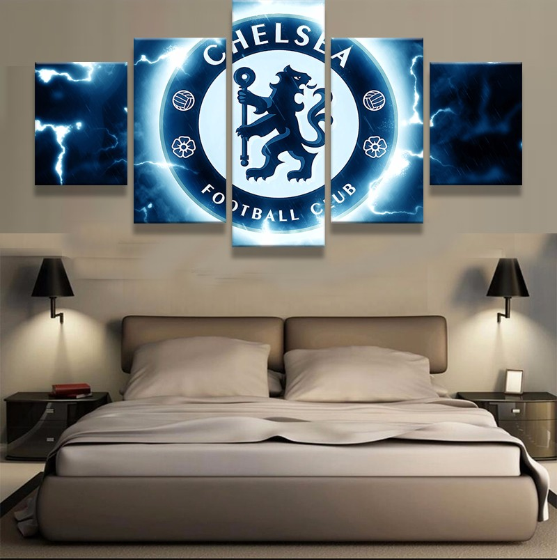 unframed 5 Pieces Modern Chelsea Football Club Sports Team Fans Oil Painting On Canvas Home Pictures Prints Liveing Room Decor(China (Mainland))
