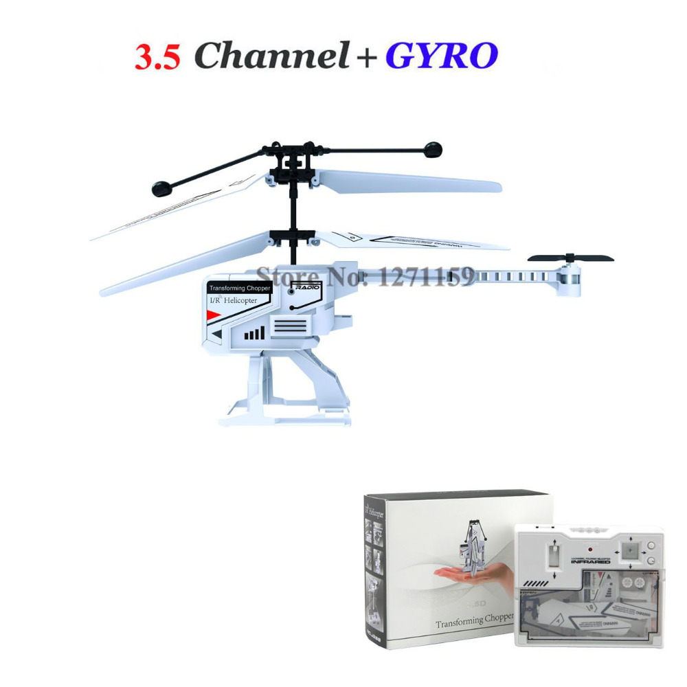 Folding remote control aircraft 3.5CH RC helicopter with gyro luxury gift packaging Remote control drones Free shipping(China (Mainland))