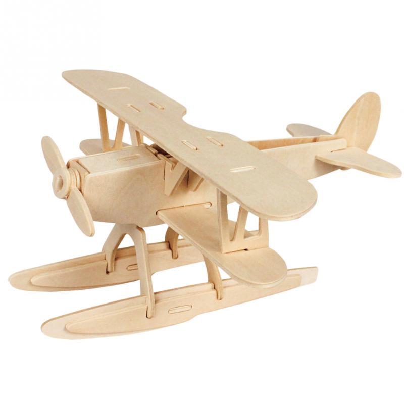 Hot diy 3d three dimensional wooden plane style jigsaw - Puzzles decorativos ...