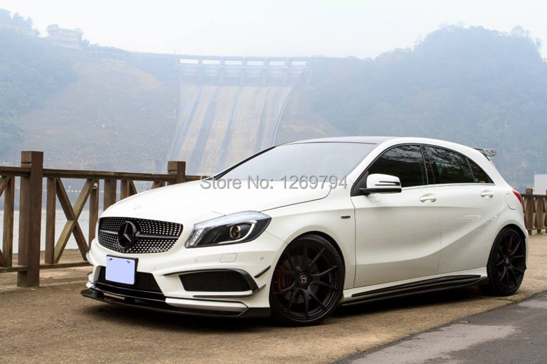 Carbon fiber A260 A250 A45 door side sill side skirts for car body side diffuser side spoiler Mercedes-Benz A class 2013 up