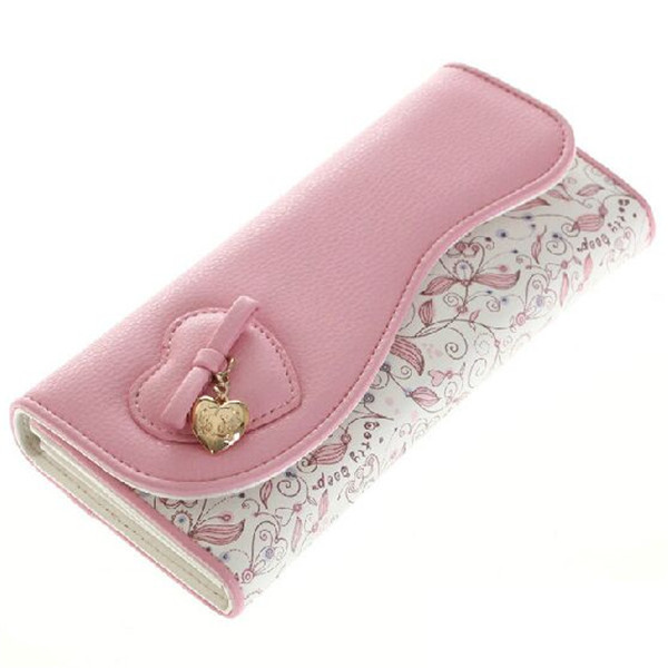 W22 Designer Famous Brand Betty Boop Women Wallet Fashion Women White Pink Cute Long Wallets Female Purses Clutch Ladies Wallet(China (Mainland))