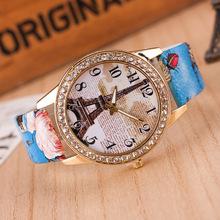 New Design Lowest price Quartz Watch Women dress watch relogio masculino Eiffel Tower watch,Bohemia Style Vogue Jewelry Watch