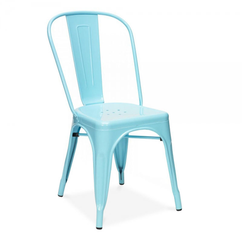Free Shipping Steel Blue Powder Coated Side Chair(China (Mainland))