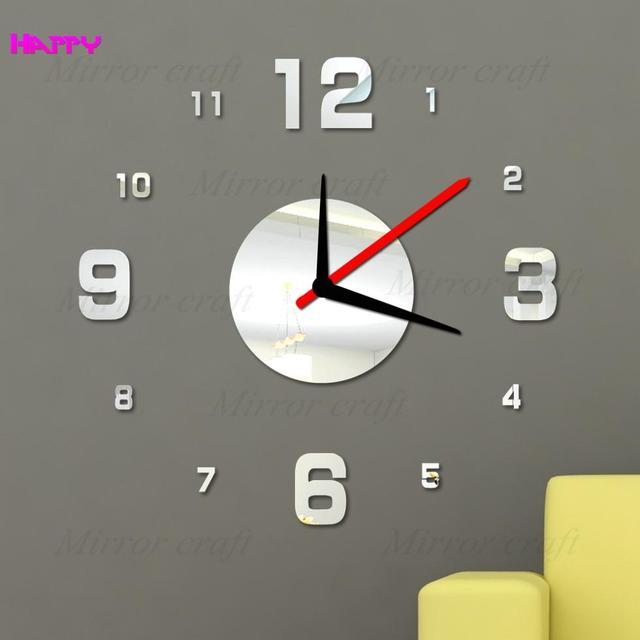 Top Alphabet Arabe Horloge Murale Miroir Horloge Montre