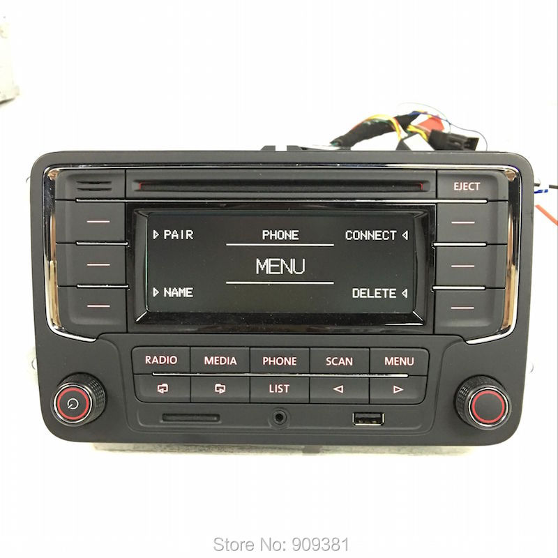 DHL Free Shipping Original CD Player Car Radio Stereo RCN210 USB Bluetooth For VW Golf 5 6 Jetta MK5 MK6 Passat B6 CC Tiguan(China (Mainland))