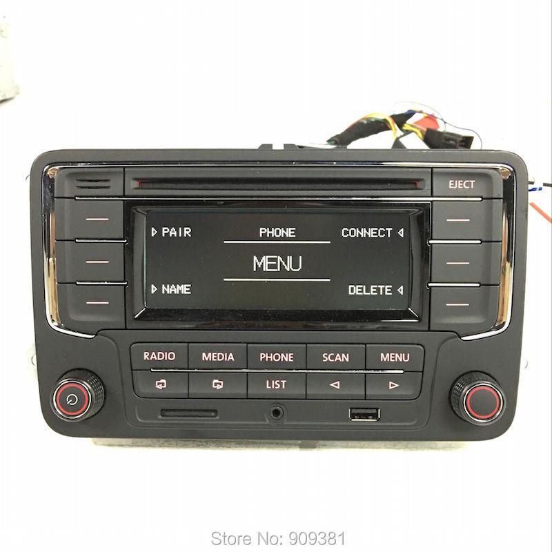 Фотография DHL Free Shipping Original CD Player Car Radio Stereo RCN210 USB Bluetooth For VW Golf 5 6 Jetta MK5 MK6 Passat B6 CC Tiguan