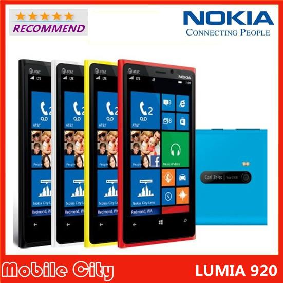 Original Refurbished Unlocked Nokia Lumia 920 Windows Mobile Phone 3G/4G 8.7MP GPS WIFI Bluetooth Free Gift/Shipping(China (Mainland))