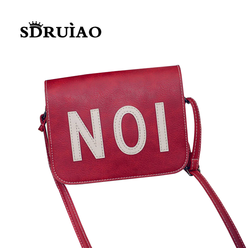 Only 100 Piece!! Half Sale! Quality Simple Number Mini Women Messenger Bags PU Leather Retro Shoulder Crossbody Bags Bolsos(China (Mainland))
