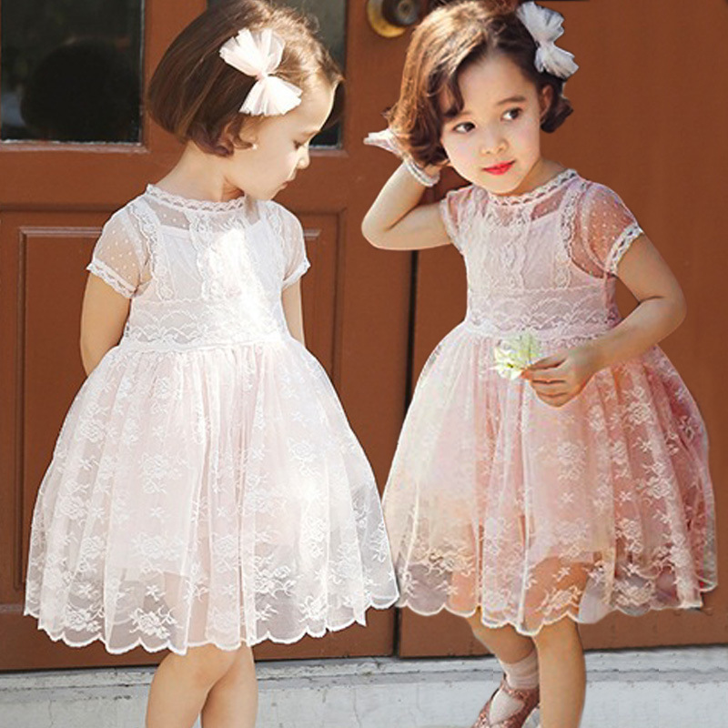 Girls royal style Lace dress high quality Party Birthday Kids Clothing Princess Dresses 2-7 years toddler girls dress(China (Mainland))