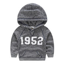 Mudkingdom 2016 autumn newly children boys' hoodies cute No, print boys hooded outwear coats boys clothing children clothes(China (Mainland))