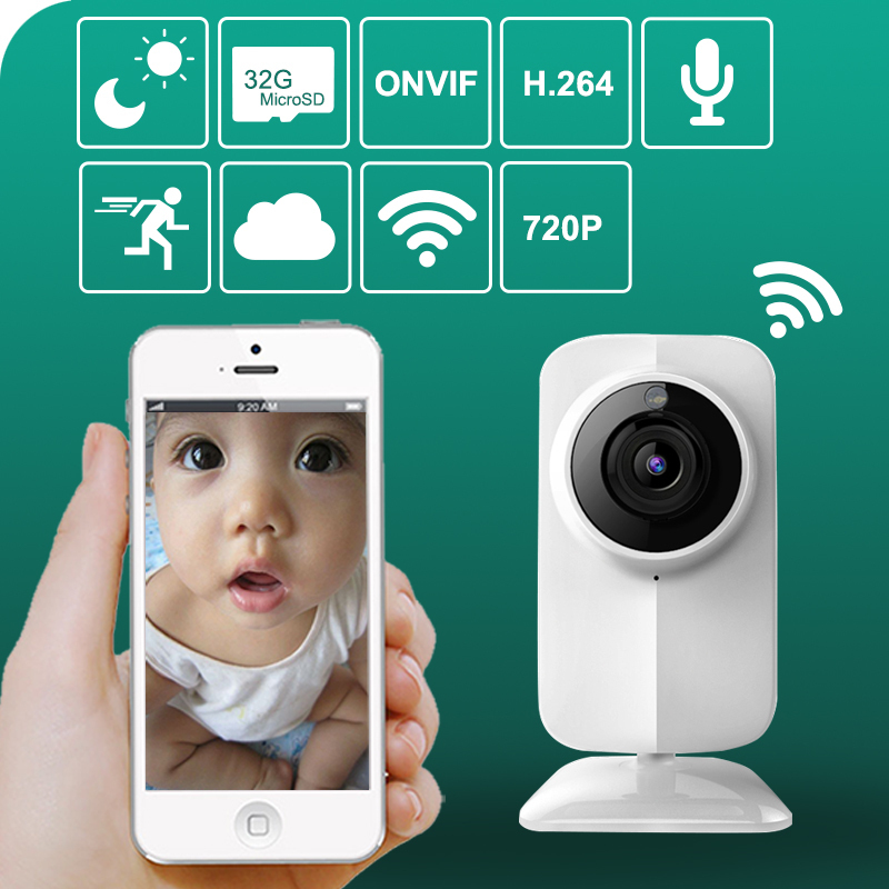 Hot!Support video Talk for Apple Android IOS HD 720p Monitor Baby Mini WIFI Camera Baby Monitor Night Vision FAST ship(China (Mainland))