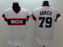 Mens 1 Adam Eaton 8 Bo Jackson 14 Paul Konerko 35 Thomas 79 Jose Abreu Jerseys color white Size:M-XXXL(China (Mainland))
