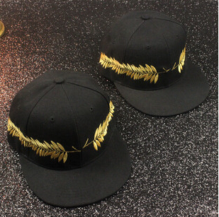Summer style gold ear fashion baseball caps black fitted hats for men gorras hip hop for women(China (Mainland))