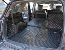 Good mat & Free shipping! Special trunk mats for Hyundai Santa fe 7seats 2012-2009 durable waterproof carpets for Santafe 2011(China (Mainland))