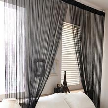 13 couleurs de Windows panneau Curtainf pour salon 2 m x 1 m diviseur fil rideaux cordes bande Tassel drapé décoration(China (Mainland))