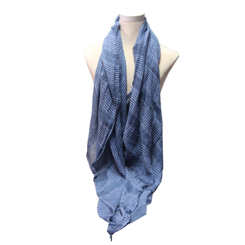 New Scarf Women Winter Blue Scarves and stoles Hot products Cotton and linen High Fashion Warm fulares mujer