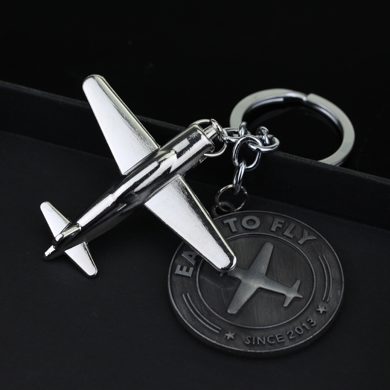 Hot Silver Plated Airplane Sky Team Alliance Keychain keyfob Star Alliance Airlines Key Chains Aircraft Plain Shape Souvenirs(China (Mainland))