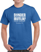 Dunder Mifflin t shirt men funny tv show Summer Gift casual printed tee US plus size s-3xl