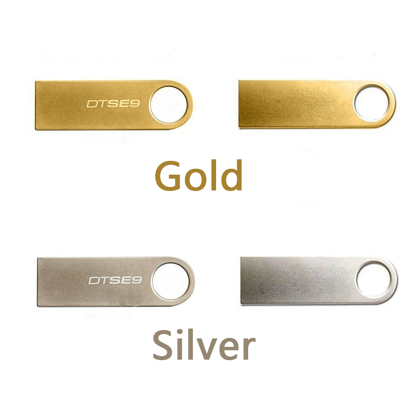 2016 New Full size waterproof USB Flash drives 64GB 32GB 16GB 8GB 4GB Gold/Silver flash Drive pendrive car/thumbdrives best Gift(China (Mainland))
