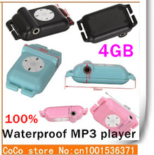 4GB IPX8 waterproof MP3 Player best for Swimming or diving Best gift for kid(balck white pink blue)(China (Mainland))