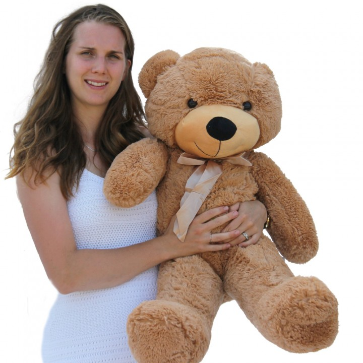 "Joyfay 39"" 100cm Light Brown Stuffed Teddy Bear Toy Soft Stuffed Animals Plush Toy Best Gift for Birthday Valentine Anniversary(China (Mainland))"