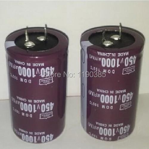 Free shipping Aluminum electrolytic capacitor 1000UF 450V 35* 50 35mm*50mm New and original capacitance Integrated circuit(China (Mainland))
