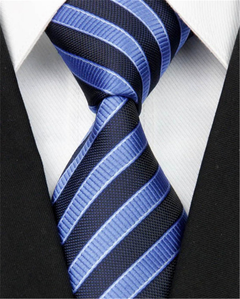 """Necktie Tie for Men Accessories 100% Silk Striped Pattern Jacquard Woven Formal Wedding Business Style 8-146 (4""""/10cm)(China (Mainland))"""