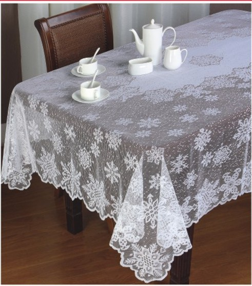 Free shipping floral snowflower christmas lace table cloth for Table induction 70 x 52