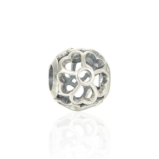Чистый 925-Sterling-Silver ювелирные изделия ажурные энотеры бусины подходит пандора браслет змея цепи DIY женщины ювелирных изделий