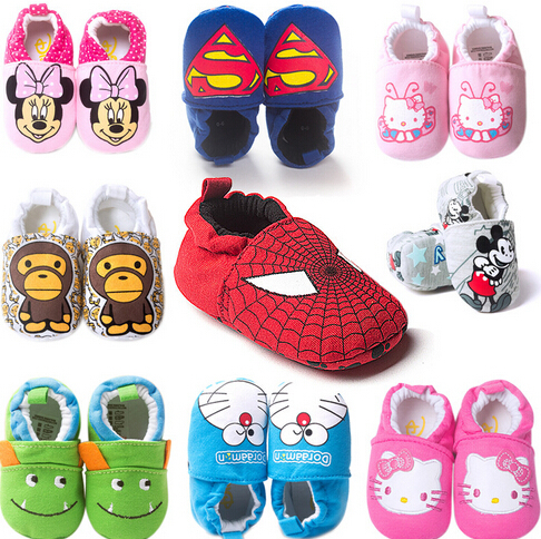 Retail baby first walkers,animal prints baby shoes,fashhion comfortable infant footwear,cute baby causal shoes(China (Mainland))