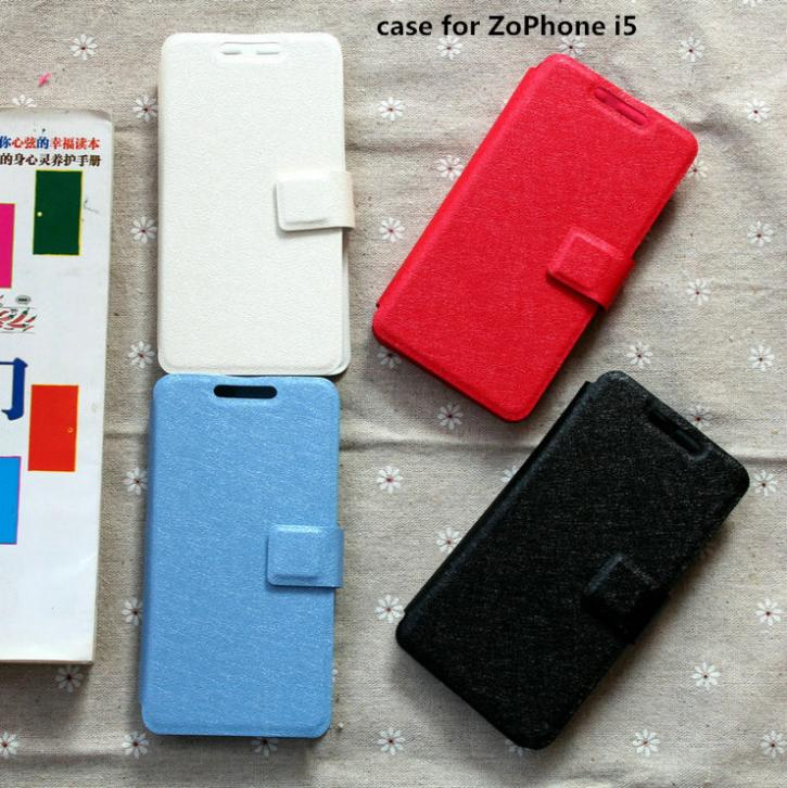 Pu leather case for ZoPhone i5 case cover(China (Mainland))