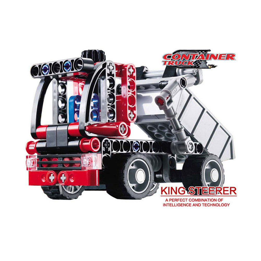 Decool 3345 transporte Container Truck Car 119 pcs Car Model Building Block define Bricks DIY brinquedos educativos(China (Mainland))