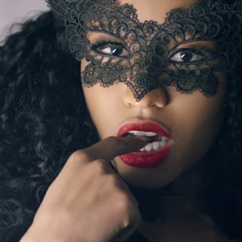 Black lace erotic women