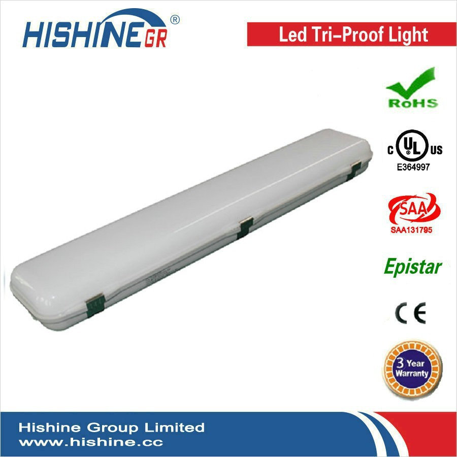 Free Shipping! 30W Led Industrial Batten Light 600mm SMD2835 With PC Cover CE ROHS DLC Listed With 3 Years Warranty(China (Mainland))