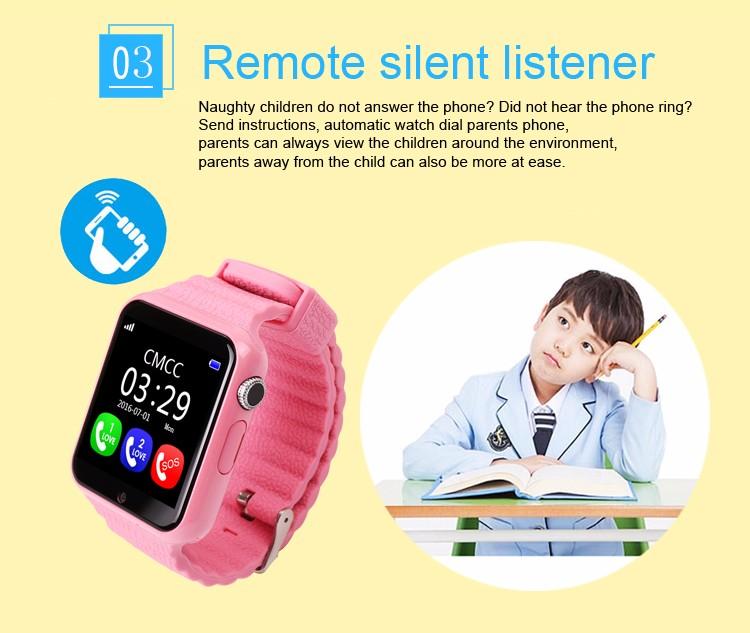 ถูก จีพีเอสsmart watchเด็กนาฬิกาv7kด้วยกล้อง/facebook sosสถานที่ตั้งdevicertrackerสำหรับเด็กปลอดภัยป้องกันหายไปตรวจสอบpk q90/80