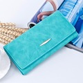 New Fashion PU Leather Women Wallets Vintage Plaid Long Wallets Card Holder Carteira Feminina Female Coin