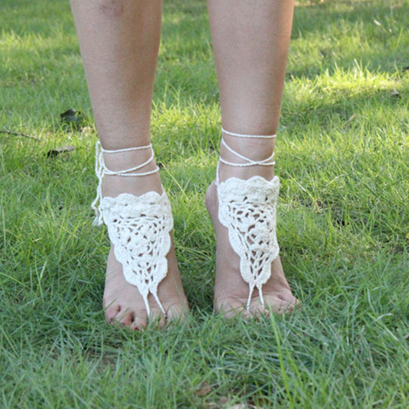 New Fashion Toe Rings Anklets Handmade Crochet Barefoot Sandals Ankle Chain for Women AL066(China (Mainland))
