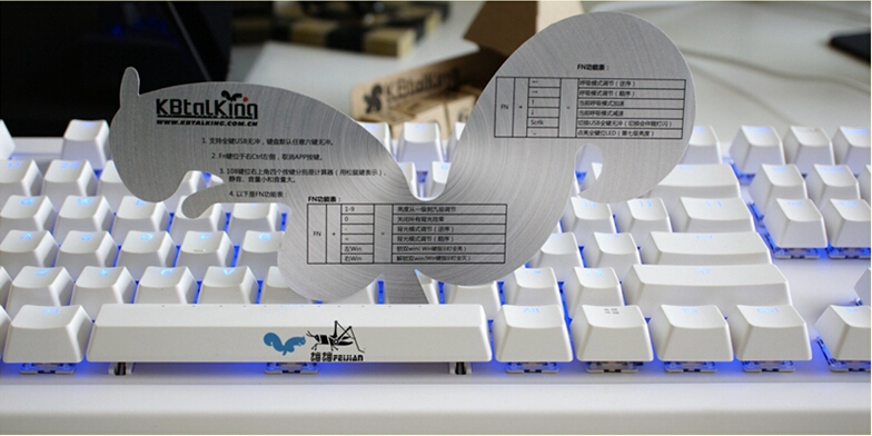 KBT IKBC KB TALKING NT108  gaming  full size mechanical keyboard blue LED backlit kbt mx switches brown  LED backlight shine<br><br>Aliexpress