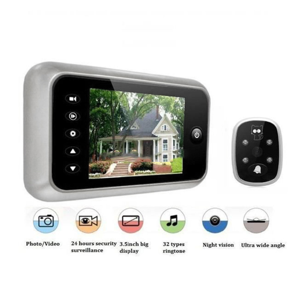 Peephole camera reviews online shopping peephole camera for Door viewer camera