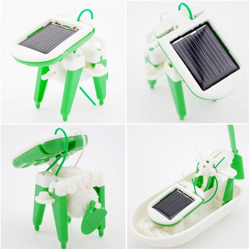 6-in-1 Solar Energy Robot Kit Assembling Children Kids Education Learning Toys(China (Mainland))