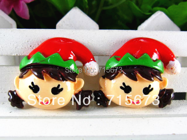 Wholesale new arrival flatback resin Christmas items 5pcs/lot resin crafts free shipping phone hair children decoration(China (Mainland))