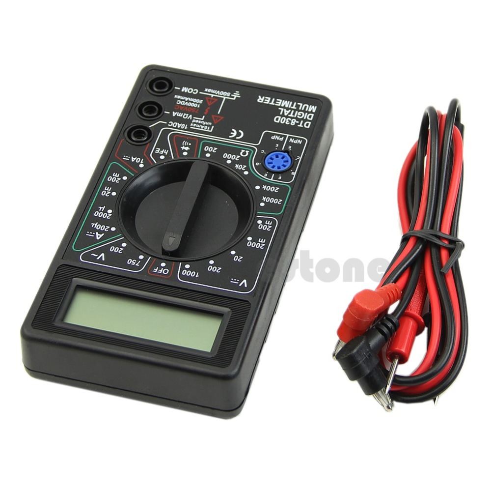 OOTDTY 1pc Digital Multimeter Buzzer Voltage Ampere Meter Test Probe DC AC LCD
